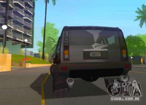 Hummer H2 Limousine para GTA San Andreas vista direita