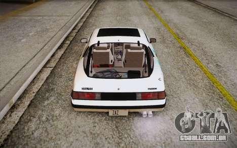 Mazda RX-7 GSL-SE 1985 HQLM para GTA San Andreas vista inferior