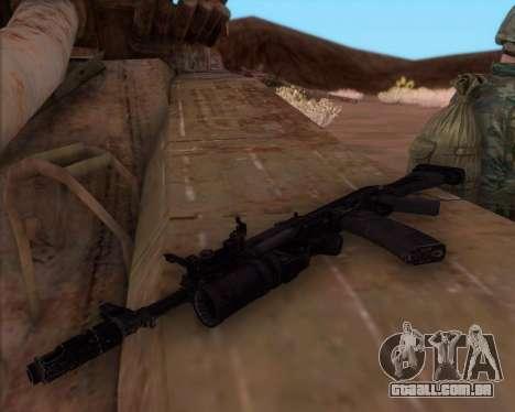 Kalashnikov AK-74M para GTA San Andreas segunda tela