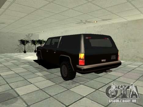 SWAT Original Cruiser para GTA San Andreas traseira esquerda vista