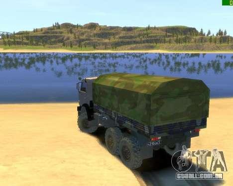 KamAZ-43114 para GTA 4 esquerda vista