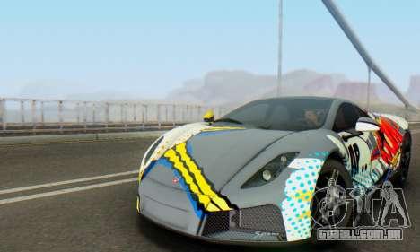 GTA Spano 2014 IVF para GTA San Andreas vista superior
