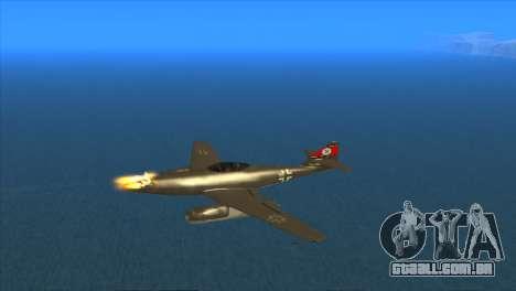 Messerschmitt Me.262 Schwalbe para GTA San Andreas vista interior