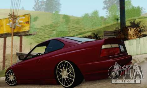 BMW 850CSI 1996 para GTA San Andreas interior