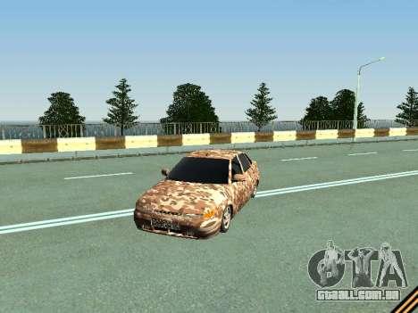 VAZ 2110 camuflagem para GTA San Andreas esquerda vista