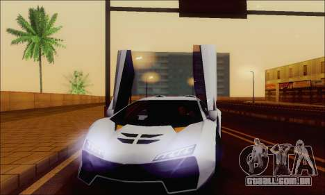Zentorno GTA 5 V.1 para as rodas de GTA San Andreas