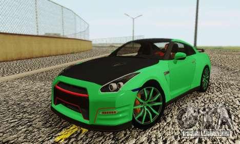 Nissan GTR Streets Edition para GTA San Andreas traseira esquerda vista