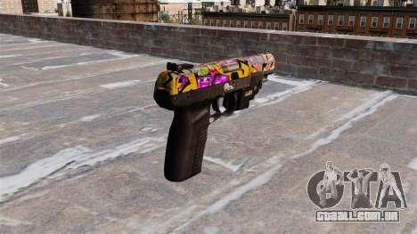 Arma FN Cinco sete LAM Graffitti para GTA 4 segundo screenshot