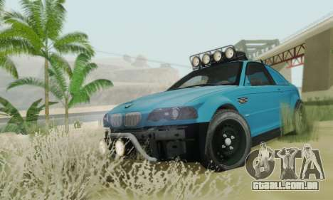 BMW M3 E46 Offroad Version para GTA San Andreas vista interior
