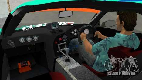Mazda RX7 FD3S RE Amamiya Falken para GTA Vice City vista traseira esquerda