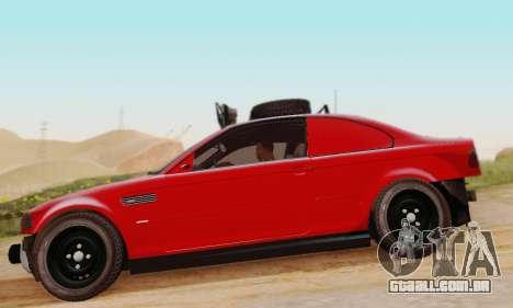 BMW M3 E46 Offroad Version para GTA San Andreas traseira esquerda vista