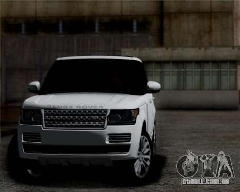 Range Rover Vogue 2014 para GTA San Andreas esquerda vista