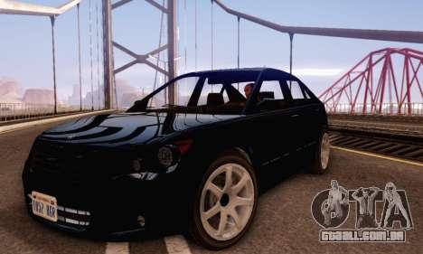 Karin Asterope V1.0 para GTA San Andreas esquerda vista