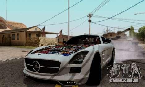 Mercedes SLS AMG Hamann 2010 Metal Style para GTA San Andreas esquerda vista