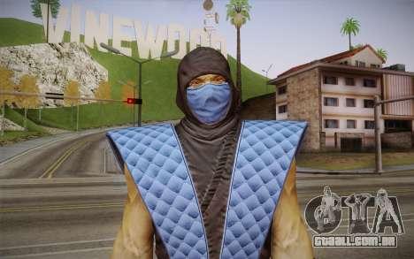 Classic Sub Zero из MK9 DLC para GTA San Andreas terceira tela
