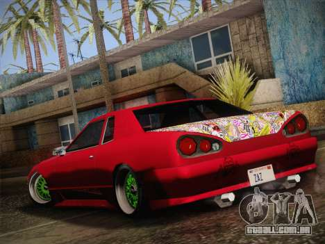Elegy JDM Style para GTA San Andreas traseira esquerda vista