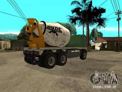 Transportadora de cimento do GTA 4 para GTA San Andreas vista direita