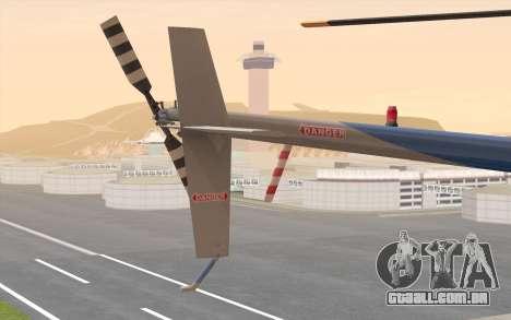 Robinson R22 para GTA San Andreas vista direita