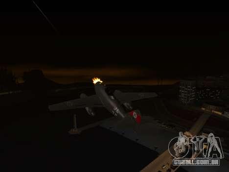 Messerschmitt Me.262 Schwalbe para GTA San Andreas traseira esquerda vista