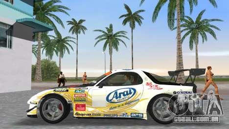 Mazda RX7 FD3S RE Amamiya Arial para GTA Vice City vista traseira esquerda