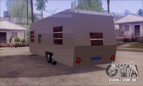 A Caravana Trailer para GTA San Andreas esquerda vista