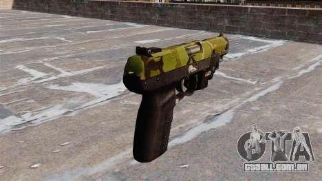 Arma FN Cinco sete LAM Floresta para GTA 4 segundo screenshot