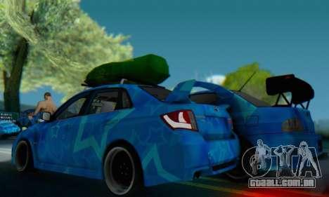 Subaru Impreza Blue Star para GTA San Andreas vista direita
