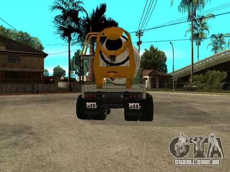 Transportadora de cimento do GTA 4 para GTA San Andreas traseira esquerda vista
