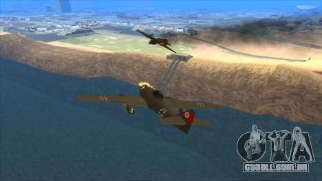 Messerschmitt Me.262 Schwalbe para GTA San Andreas vista direita