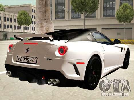 Ferrari 599 GTO para o motor de GTA San Andreas