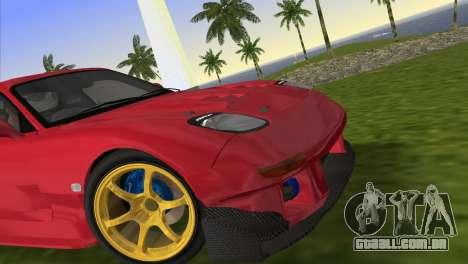 Mazda RX7 FD3S RE Amamiya Road Version para GTA Vice City vista traseira esquerda