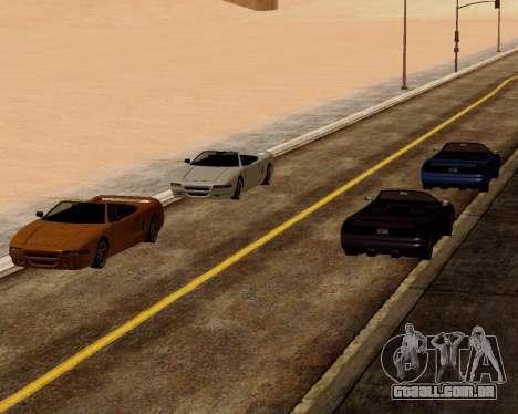 Infernus Conversível para GTA San Andreas vista direita