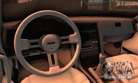 Mazda RX-7 GSL-SE 1985 HQLM para GTA San Andreas traseira esquerda vista