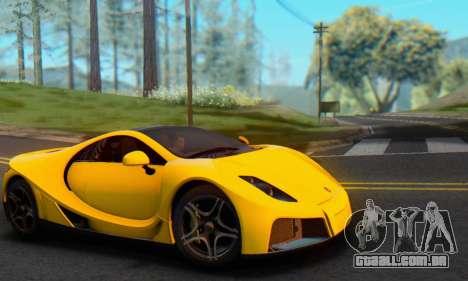 GTA Spano 2014 IVF para GTA San Andreas vista direita
