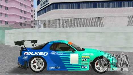Mazda RX7 FD3S RE Amamiya Falken para GTA Vice City vista direita