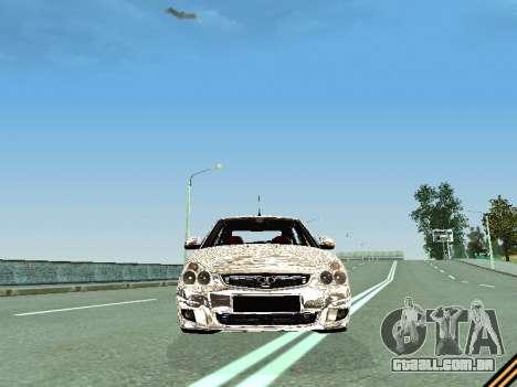 VAZ 2172 para GTA San Andreas vista interior