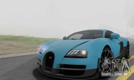 Bugatti Veyron Super Sport 2011 para vista lateral GTA San Andreas