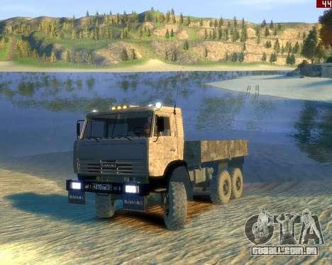 KamAZ-43114 para GTA 4 traseira esquerda vista