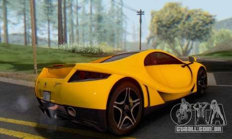 GTA Spano 2014 IVF para GTA San Andreas vista traseira