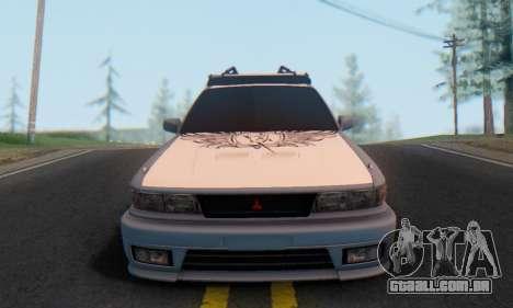 Mitsubishi Galant Generation Rock 1992 para GTA San Andreas vista traseira