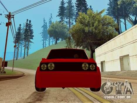 Club Sport para GTA San Andreas traseira esquerda vista