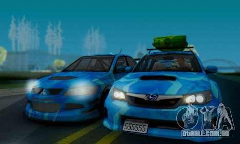 Subaru Impreza Blue Star para GTA San Andreas traseira esquerda vista