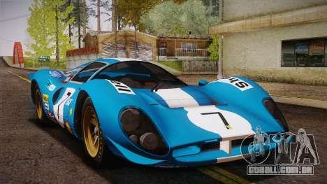 Ferrari 330 P4 1967 IVF para o motor de GTA San Andreas
