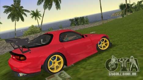 Mazda RX7 FD3S RE Amamiya Road Version para GTA Vice City deixou vista