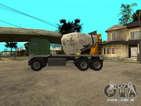 Transportadora de cimento do GTA 4 para GTA San Andreas esquerda vista