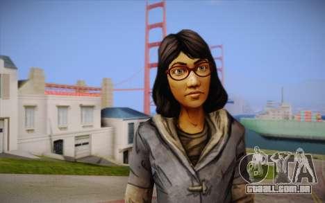 Sarah из The Walking Dead para GTA San Andreas terceira tela