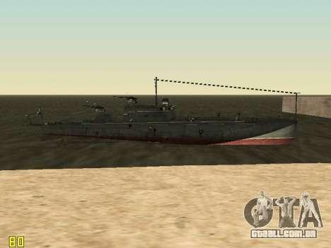 Torpedeiros do tipo G-5 para GTA San Andreas vista superior
