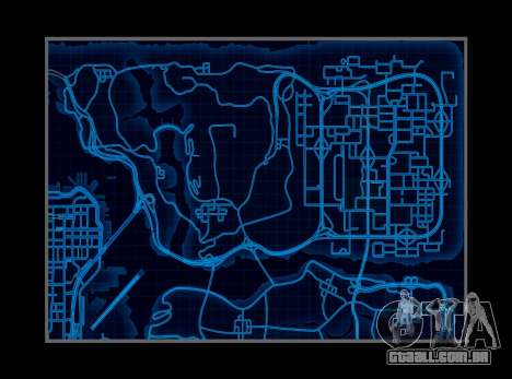 Mapa estilo de need For Speed World para GTA San Andreas segunda tela