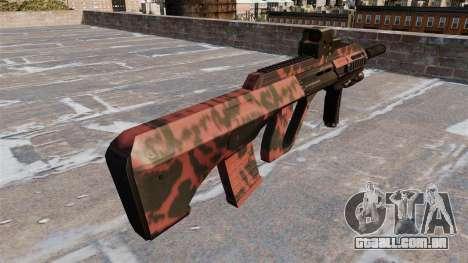 Máquina de Steyr AUG-A3 Vermelho tigre para GTA 4 segundo screenshot