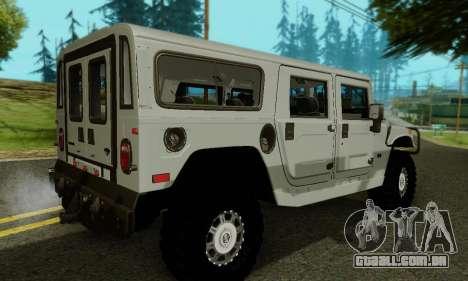 Hummer H1 Alpha para GTA San Andreas vista inferior